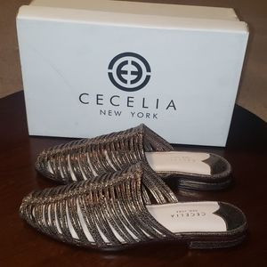 Cecelia New York Gloria Sandals sz 9 M Metallic